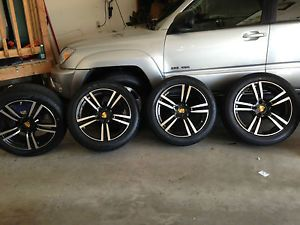 "20"" Porsche Cayenne Turbo II Style Wheels and Tires Black with Machine Face"