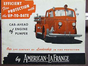 "American LaFrance 700 Series Fire Engine Brochure ""Up to Date"" Pumper 3 49"