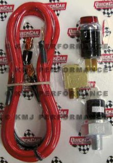 Quickcar 61 711 Oil Pressure Warning Light Kit w Wiring Switch IMCA Sportmod
