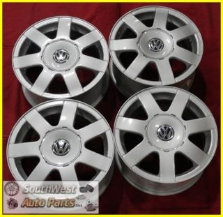 "98 99 00 01 Volkswagen Passat 15"" Silver Wheels Factory Used Rims Set 69722"
