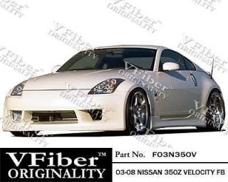 2003 2008 Nissan 350Z Z33 Velocity V Fiber Full Body Kit