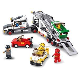 Auto Vehicle Transport Truck Building Block Toy
