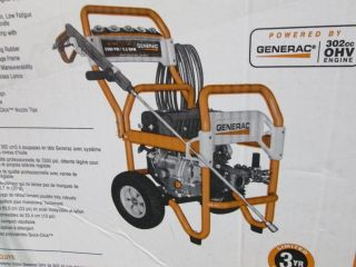 Generac 5995 3300 PSI 3 2 GPM OHV Engine Triplex Pump Gas Pressure Washer $719
