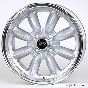 16 Rota RB Silver Rims Wheels Tires Mini Cooper 195 55 16 Falken 912