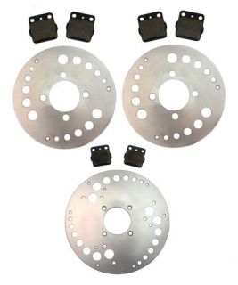 Front Rear Brake Rotors and Pads Yamaha YFM 660 Raptor 2001 2002 2003 2004 2005