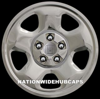 "4 Chrome Ridgeline Pilot 17"" Wheel Covers Rim Skins Hub Caps 4 Steel Wheels"