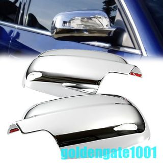 Triple Chrome Side Door Mirror Cover Trim for VW Passat B5 99 04 Polo MK4 98 04