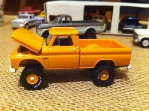 Custom 1 64 1965 Chevy 4x4 Pickup Truck for Ertl Farm DCP Johnny Lightning