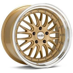 "18"" Axis Rev Style Gold Wheels Rims Staggered Fit Nissan 350 370Z Altima Maxima"