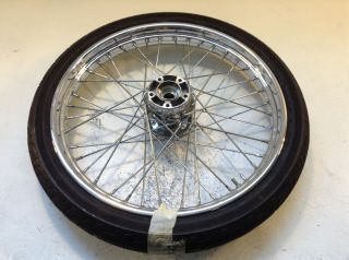 Harley Softail Fat Boy Bob Dyna Front Wheel Rim Tire Hub 21