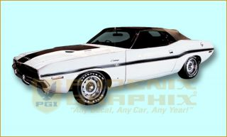1970 Dodge Challenger Decals Stripes Kit