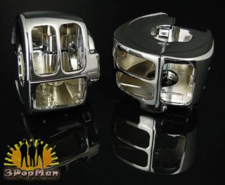 Chrome Switch Housing for Harley Davidson Dyna Sportsters Softail V Rod Touring