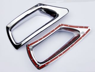 Chrome Rear Bumper Fog Lamp Light Cover Molding Trim for 2013 Dodge Journey