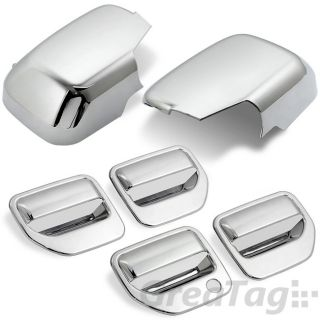 06 2011 Honda Ridgeline Pickup Triple Chrome Door Handle Mirror Cover Combo Set