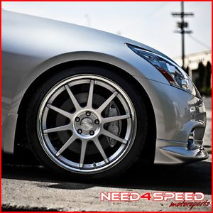 "20"" Nissan 350Z Concept One CS10 Deep Concave Silver Staggered Wheels Rims"