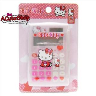 Hello Kitty Mini Calculator w Cover Pink
