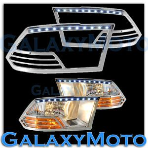 09 13 Dodge RAM 1500 Truck Chrome Headlight Head Light Trim Bezel LED Cover