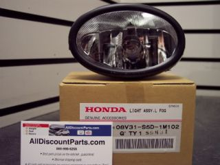 Honda Replacement Driver Left Side Fog Light Lamp Accord Civic CRV Fit