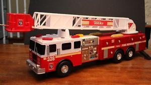 TONKA TITANS FIRE ENGINE TRUCK 3FT LARGE TOY W/ LIGHTS SOUNDS & MOVING LADDER