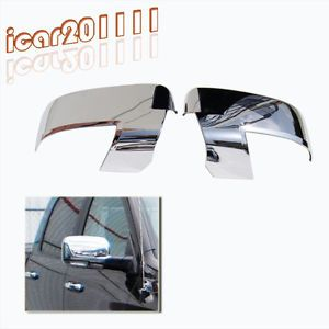 2009 2012 Dodge RAM 1500 2500 3500 Chrome Mirror Caps Covers Turn Signal Cut