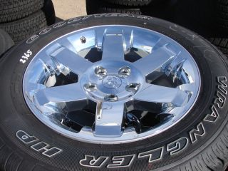 "4 20"" 2013 Dodge RAM 1500 6 Spoke Chrome Factory Wheels Rims Goodyear Tires"