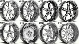 "26"" asanti Wheels Tires Chrome Multi Piece AF Standard Series 26inch Rims"