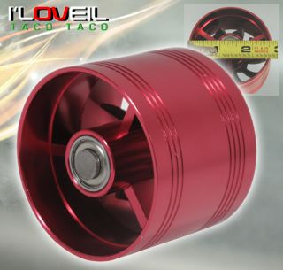 "2 5"" Cold Air Short RAM Intake supercharger Single Fan Gas Fuel Saver Red Toyota"