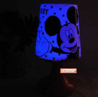 2 Functions Mickey Minnie Mouse Twilight Night Light Kids Sleep LED Bed Lamp S