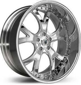 "22"" asanti Wheels Staggered AF 143 Chrome Rims Tire Package BMW 645 745 750 24"