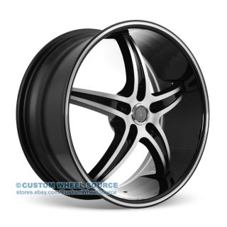 "18"" Velocity VW925 Black Wheel and Tire Package Rims Saturn Scion Suzuki Toyota"