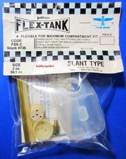 Sullivan 736 2 oz Flex Tank Fuel Tank Slant Type 1 for RC Airplanes SUL736