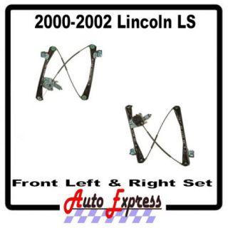New 00 02 Lincoln LS Front Left Right Power Window Regulator Set w Motors