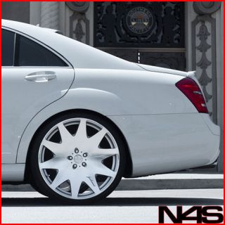 "22"" Mercedes Benz W221 S400 S550 S600 Concave VIP Silver Staggered Wheels Rims"
