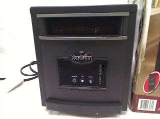 DURAFLAME 1500 Watt Infrared Quartz Heater Black Steel Finish