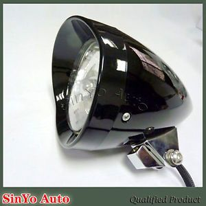 New Black Bullet Motorcycle Headlight for Harley Davidson Headlights