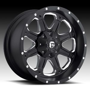 5 16x8 1 Fuel Boost Black Wheels Rims 5x127 5x4 5 Jeep Wrangler JK TJ YJ