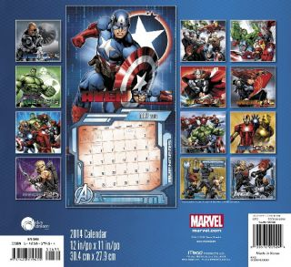 Marvel Comics Avengers Assemble Comic Art 16 Month 2014 Wall Calendar New SEALED