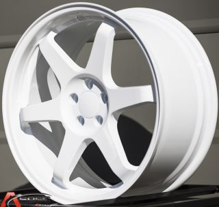18x8 5 Varrstoen ES221 5x100 White Wheel Fit Audi TT VW Jetta Golf Passat Beetle