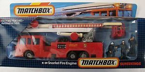 Matchbox Superkings K 39 County Department Snorkel Fire Engine Rescue Truck