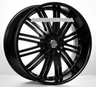 "26"" D1 VT BK Wheels Rims for Chevy Tahoe Escalade Silverado RAM Yukon Ford"