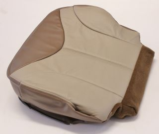 2002 GMC Sierra Denali Quad Super Cab Driver Bottom Leather Seat Cover 2Tone Tan