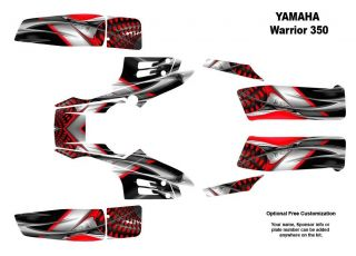Yamaha Warrior 350 Quad Graphic Decal Sticker Kit 7777RED
