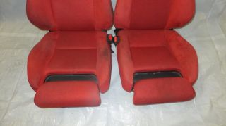 JDM Honda Civic Type R EP3 Front Red Recaro Seats Rails Integra RSX DC2 DC5 EK9
