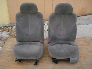 Power Driver Bucket Seats GMC Sonoma Chevy S10 Truck Blazer Light Gray Pewter