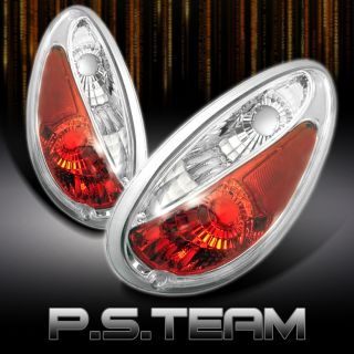 01 05 Chrysler PT Cruiser JDM Red Clear Tail Brake Lights Lamps Pair Left Right