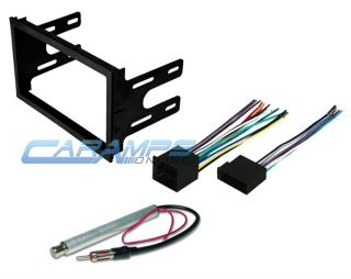 VW Car Stereo Double 2 DIN Radio Dash Installation Trim Kit with Wiring Harness