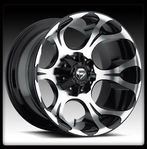 "20"" Fuel Dune Black Machined Wheels Rims Nitto 285 50 20 Terra Grappler Tires"