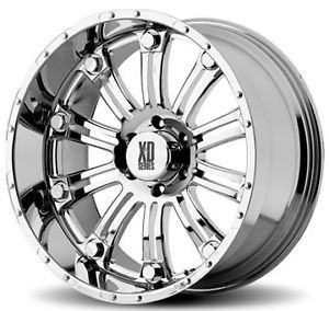 "20"" XD Series 20 inch XD795 Hoss Chrome Offroad Truck Rims Wheels Nitto Tires"