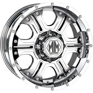 20x9 Chrome Mayhem Havoc 5x5 12 Wheels Nitto Terra Grappler LT305 55R20 Tires