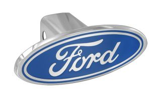 Ford Blue Oval Metal Billet Stainless Steel Trailer Tow Hitch Cover Plug